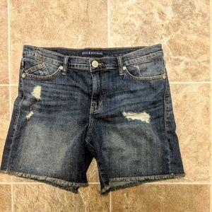 Rock and republic distressed denim shorts.